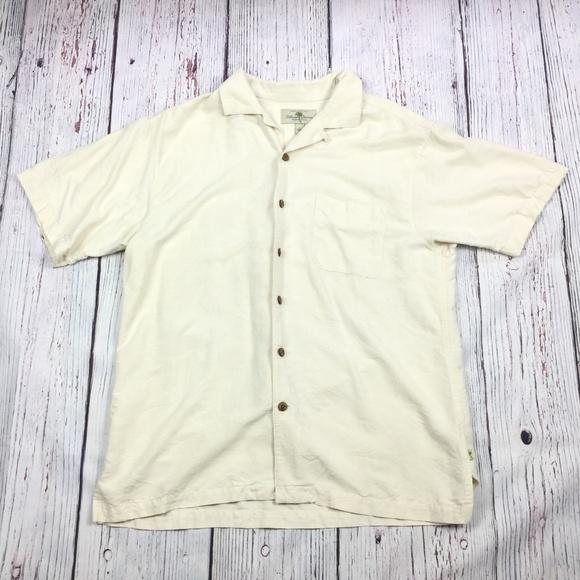 1e1cd221 Island Shores Shirts | 4 X 25 Washable Silk Shirt Large | Poshmark